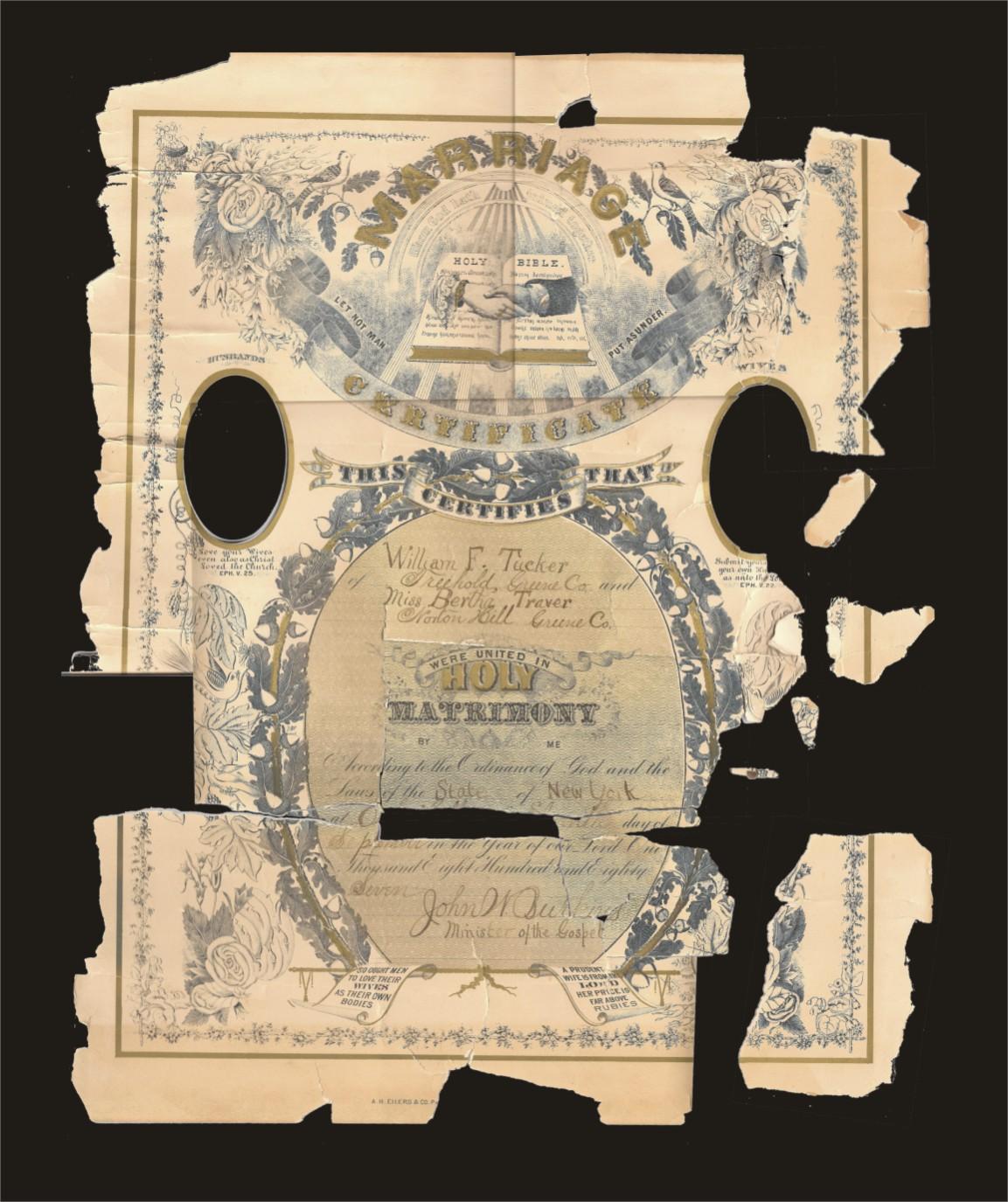 TuckerTraver Marriage Certificate