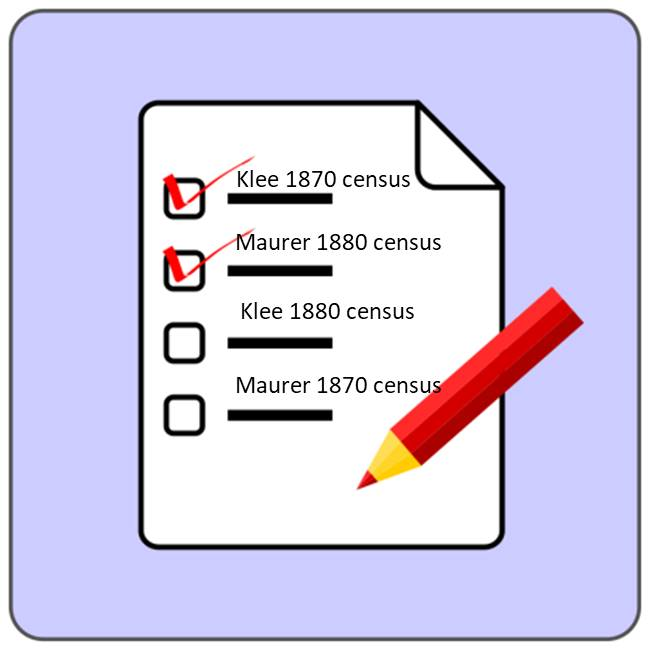 census checklist Maurer Klee
