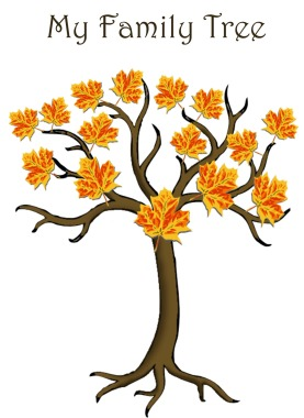 family tree design fall leaves